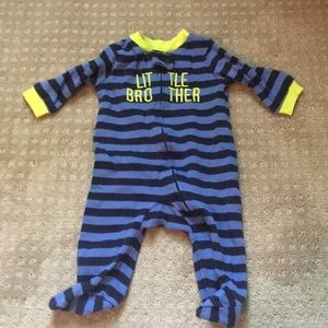 5/$20 Carter's sz 3months Little Brother Pajama